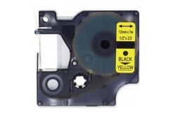 Kompatibilní páska s Dymo 45018, S0720580, 12mm x 7m, černý tisk / žlutý podklad