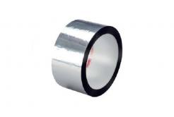 3M 850 S Polyesterová lepicí páska, stříbrná, 25 mm x 66 m