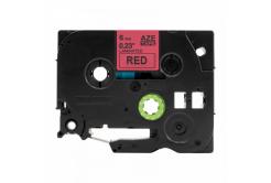 Kompatibilní páska s Brother TZ-S411 / TZe-S411, 6mm x 8m, extr.adh. černý tisk / červený
