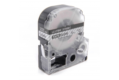 Epson LK-ST6KW, 6mm x 9m, černý tisk / průhledný podklad, kompatibilní páska