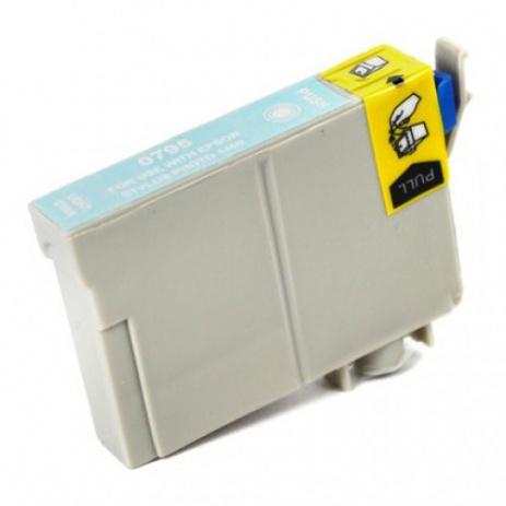Epson T0795 svetle azúrová (light cyan) kompatibilná cartridge