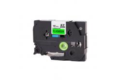 Kompatibilní páska s Brother TZ-D41/TZe-D41, signální 18mm x 8m, černý tisk/zelený podklad