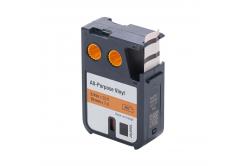 Kompatibilní páska s Dymo 1868767, 19mm x 7m, černý tisk/oranžový podklad