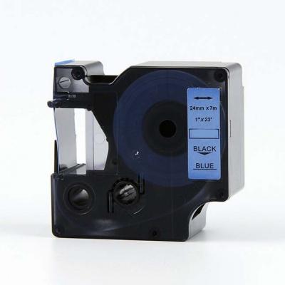 Kompatibilní páska s Dymo 53716, S0720960, 24mm x 7m, černý tisk / modrý podklad