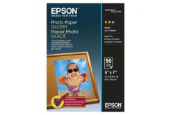 Epson C13S042545 Glossy Photo Paper, foto papír, lesklý, bílý, 13x18cm, 200 g/m2, 50 ks, C13S042545, inkou