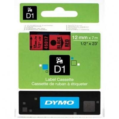 Dymo D1 45017, S0720570, 12mm x 7m, černý tisk / červený podklad, originální páska