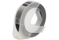 Kompatibilní páska s Dymo S0898130, 9mm x 3m, bílý tisk / černý podklad