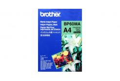 Brother Matte Inkjet Paper, foto papír, matný, bílý, A4, 145 g/m2, 25 ks, BP60MA, inkoustový