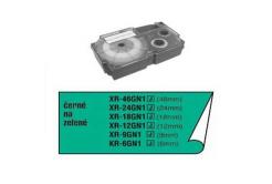 Casio XR-6GN1, černý tisk/zelený podklad, nelaminovaná