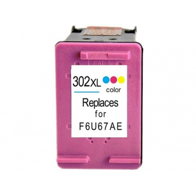 HP 302XL F6U67AE barevná (color) kompatibilní cartridge