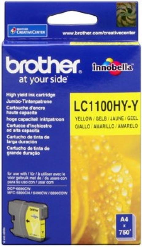 Brother LC-1100HYY sárga (yellow) eredeti tintapatron
