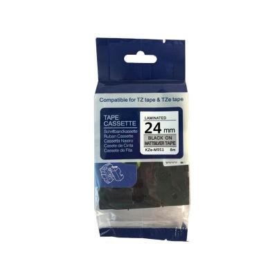 Kompatibilní páska s Brother TZ-M951 / TZe-M951, 24mm x 8m, černý tisk / stříbrný podklad