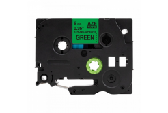 Kompatibilní páska s Brother TZ-S721 / TZe-S721, 9mm x 8m, extr.adh. černý tisk / zelený p