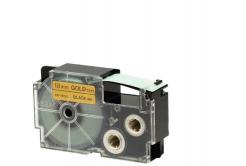 Kompatibilní páska s Casio XR-18GD1 18mm x 8m černý tisk / zlatý podklad