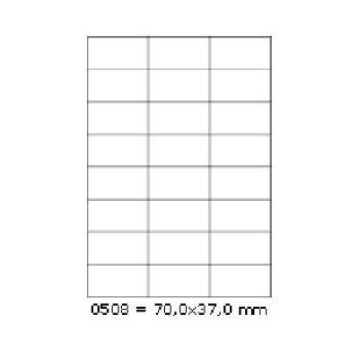 Samolepicí etikety 70 x 37 mm, 24 etiket, A4, 100 listů