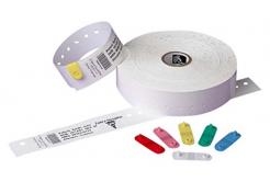 Zebra 10005008 Z-Band Direct, adult, náramkové pásky, bílá