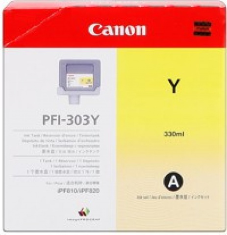 Canon PFI-303Y galben (yellow) cartus original