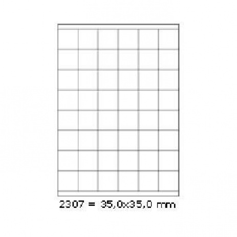 Selfadhesive labels 35 x 35 mm, 48 labels, A4, 100 sheets
