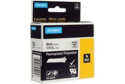 Dymo Rhino 1805440, 6mm x 5,5m, černý tisk/průhledný podklad, originální páska