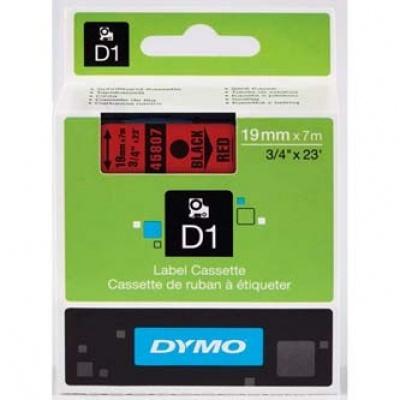 Dymo D1 45807, S0720870, 19mm x 7m, černý tisk/červený podklad, originální páska
