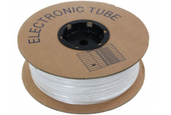 Popisovací PVC bužírka kruhová BA-20, 2 mm, 200 m, biały