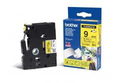 Brother TZ-FX621 / TZe-FX621, 9mm x 8m, černý tisk/žlutý podklad, originální páska