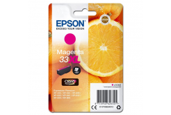 Epson originální ink C13T33634012, T33XL, magenta, 8, 9ml, Epson Expression Home a Premium XP-530, 630, 635, 830
