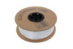 Popisovací PVC bužírka kruhová 5,2mm, UL, bílá, 80m