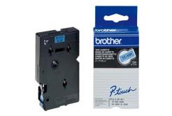 Brother TC-591, 9mm x 7,7m, black text / blue tape, original tape