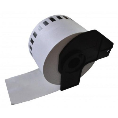 Brother DK-22205F, 62mm x 30,48m, kompatibilní bílá filmová role etiket