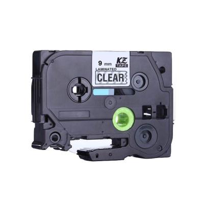 Kompatibilní páska s Brother TZ-S121/TZe-S121 9mm x 8m extr.adh. černý tisk/čirý podklad