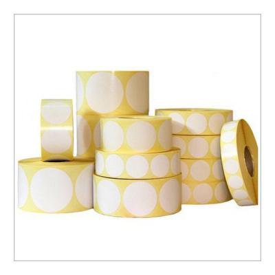 Samolepicí PP (polypropylen) etikety, kulaté 35mm, 1000ks, pro TTR, bílé, role