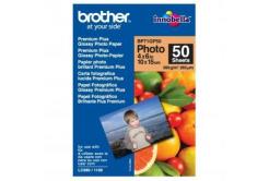 """Brother Premium Glossy Photo Paper, foto papír, lesklý, bílý, 10x15cm, 4x6"""", 260 g/m2, 50"""