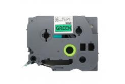 Brother TZe-V761, 36mm x 5,5m, černý tisk / zelený podklad, vinyl, kompatibilní páska