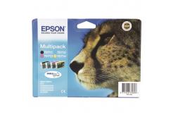 Epson T0715 azurová/purpurová/žlutá/černá (cyan/magenta/yellow/black) originální cartridge