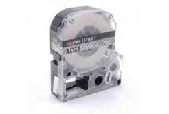 Epson LC-ST6SW, 6mm x 8m, biały druk / przezroczysty podkład, taśma zamiennik