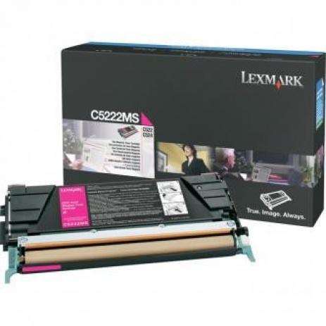 Lexmark C5222MS bíborvörös (magenta) eredeti toner