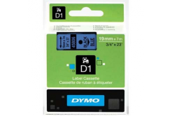 Dymo D1 45806, S0720860, 19mm x 7m, černý tisk / modrý podklad, originální páska