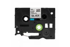 Kompatibilní páska s Brother TZ-931 / TZe-931, 12mm x 8m, černý tisk / stříbrný podklad