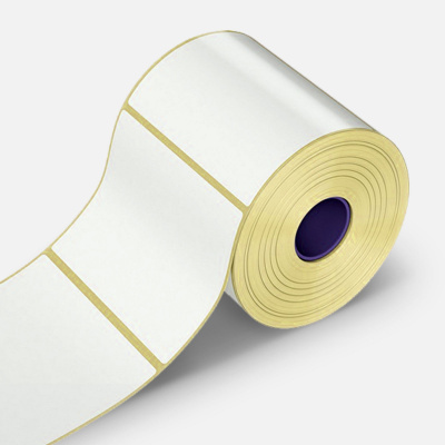 Samolepicí etikety 80x40 mm, 1000 ks, papírové pro TTR, role