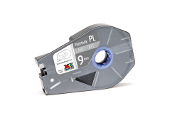 Partex PROMARK-PL090CN8, argint banda adeziva, 9mm, 27m