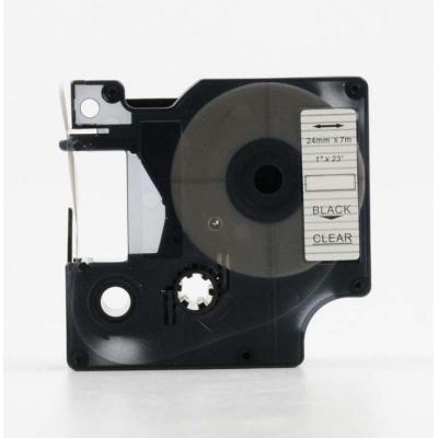 Kompatibilní páska s Dymo 53710, S0720920, 24mm x 7m, černý tisk / průhledný podklad