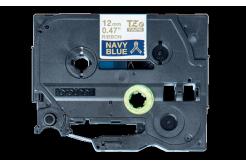 Brother TZ-RN34 / TZE-RN34, 12mm x 4m, zlatý tisk / modrý podklad, originální páska