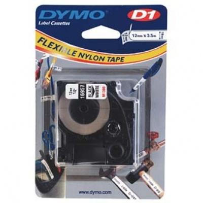 Dymo D1 16957, S0718040, 12mm x 3,5 m, černý tisk/bílý podklad, originální páska
