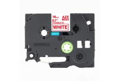 Kompatibilní páska s Brother TZ-FX242 / TZe-FX242, 18mm x 8m, flexi, červený tisk / bílý p
