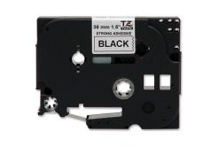 Kompatibilní páska s Brother TZ-S261/TZe-S261 36mm x 8m,extr.adh. černý tisk/bílý podklad