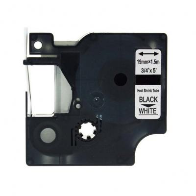 Kompatibilní páska s Dymo 18057, S0718330, 19mm x 1, 5m černý tisk / bílý podklad