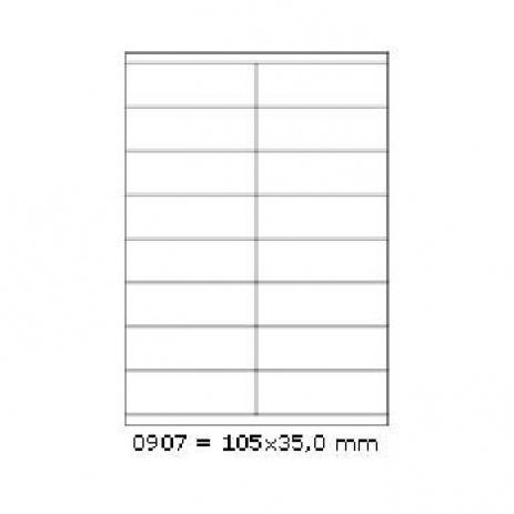Öntapadós címkék 105 x 35 mm, 16 db / A4, 100 lap