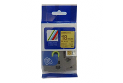 Kompatibilní páska s Brother TZ-841 / TZe-841, 18mm x 8m, černý tisk / zlatý podklad