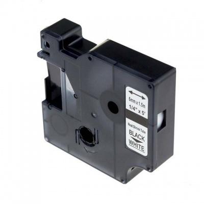 Kompatibilní páska s Dymo 18051, S0718260 6mm x 1, 5m černý tisk / bílý podklad